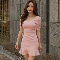 【最大25%OFF☆ホワイトデー】上品なお嬢様ピンクのガーリーなドレス(キャバドレス・CABARETDRESS)