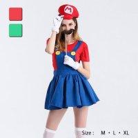 【最大70%OFF☆HALLOWEEN】サロペットスカートのガールズマリ○風コスプレ(COSPLAY)