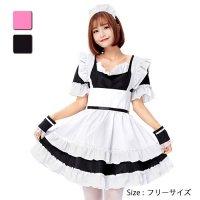 【最大70%OFF☆HALLOWEEN】可愛く本格的なミニスカートのメイドコスプレ(COSPLAY)