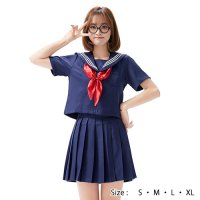【最大50%OFF☆HALLOWEEN】リボンが可愛い定番セーラー服風コスプレ(COSPLAY)