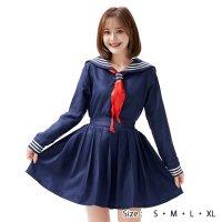 【最大70%OFF☆HALLOWEEN】2色リボンの定番セーラー服風コスプレ(COSPLAY)