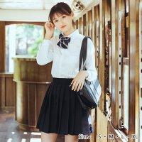 定番ネイビーの長袖JK制服風コスプレ(COSPLAY)