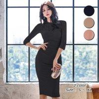 【歳末SALE☆全品15%OFF】透け感が美しいシアーレースのドッキングドレス(キャバドレス・CABARETDRESS)
