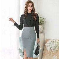 スタイリッシュに決まる出来る女のツーピースドレス(キャバドレス・CABARETDRESS)