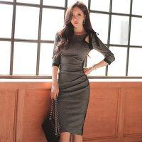 美しいスタイルを惹き立ててくれるミディ丈ドレス(キャバドレス・CABARETDRESS)