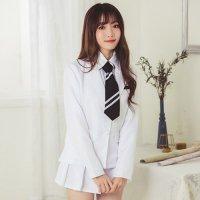 【只今ハロウィンフェア開催中!】ホワイトカラーの清純派女子制服風コスプレ(COSPLAY)