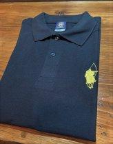 【シルエット殿・弓】ポロシャツ<ブラック>