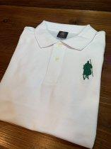 【シルエット殿・槍】ポロシャツ<ホワイト>
