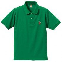 【リアル殿・刀】ポロシャツ・背中に殿文字モデル<グリーン>