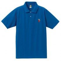 【リアル殿・刀】ポロシャツ・背中に殿文字モデル<ロイヤルブルー>