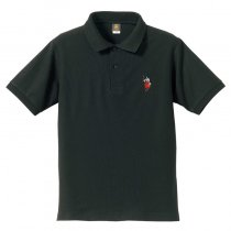 【リアル殿・刀】ポロシャツ・背中に殿文字モデル<ブラック>