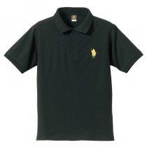 【シルエット殿・刀】ポロシャツ・背中に殿文字モデル<ブラック>