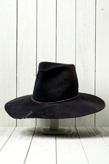 Eagle Design Beaver Felt Hat Black