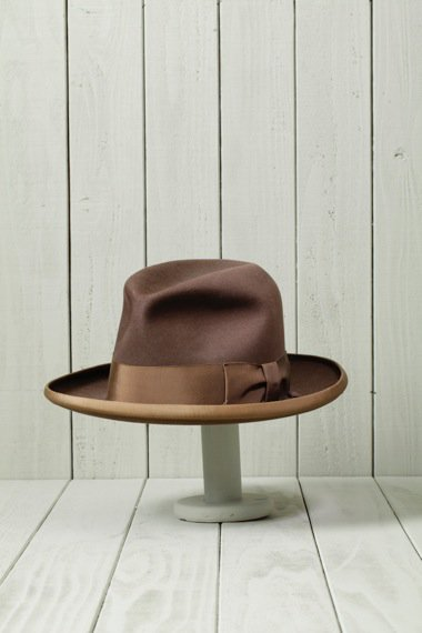 STETSON Piping Brim Hat Brown