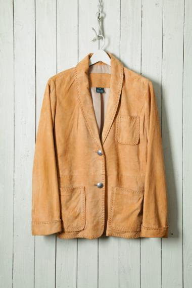 Shawl Collar Suede Jacket