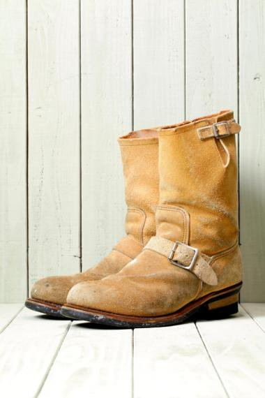 Suede Engineer Boots 8268 Beige(Size9.5)
