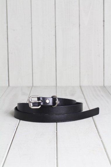 HTC×YELLOW CAKE Leather Narrow Belt Black