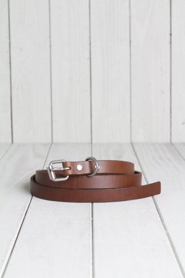 HTC×YELLOW CAKE Leather Narrow Belt Brown