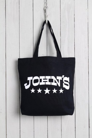 JOHN'S CLOTHING×YELLOW CAKE Tote Bag Black