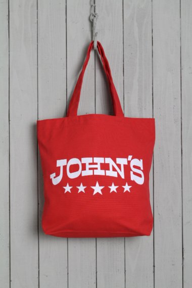 JOHN'S CLOTHING×YELLOW CAKE Tote Bag Red