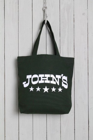 JOHN'S CLOTHING×YELLOW CAKE Tote Bag Olive