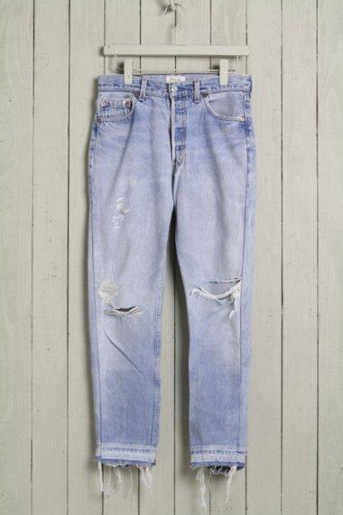 Cote Mer×YELLOW CAKE Denim Damage Pants Side Zipper 1