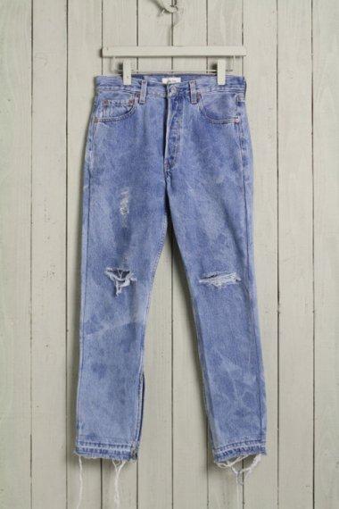 Cote Mer×YELLOW CAKE Denim Damage Pants Side Zipper 2
