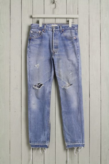 Cote Mer×YELLOW CAKE Denim Damage Pants Side Zipper 3