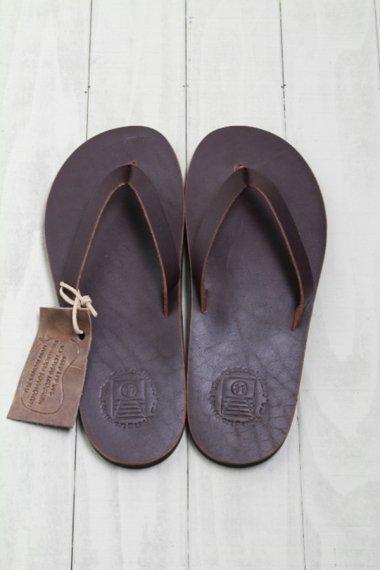 SANDALMAN×YELLOW CAKE Leather Sandal (Dark Brown/11)