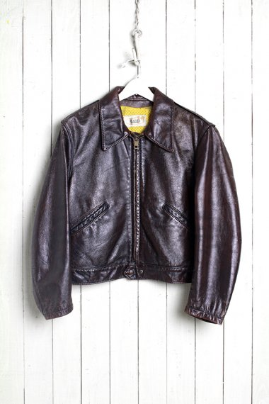 BATES Leather Jacket Brown