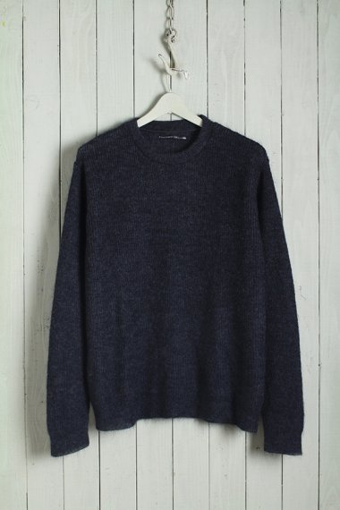 BACKBONE×YELLOW CAKE Mohair Knit Charcoal