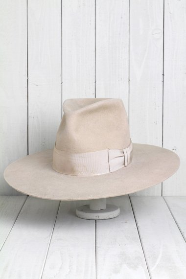 STETSON Hat Beige Long Brim