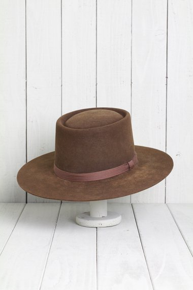 STETSON Hat Pork Pie Brown