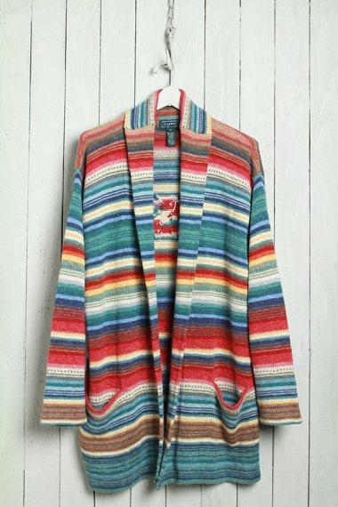 Vintage Hand Knit Rainbow