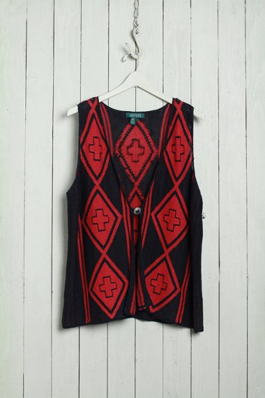 Knit Vest Native Design