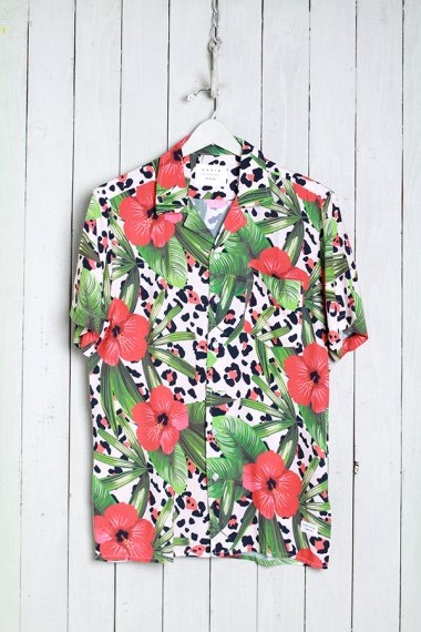 19SS Leo Floral Buttondown Grn