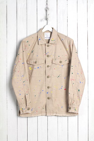 19SS Dropping Military Shirts Beige