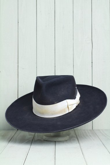 Beaver Felt Hat White Ribbon