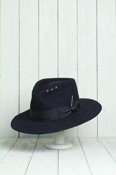 Classic Mink Hat Black&Damage