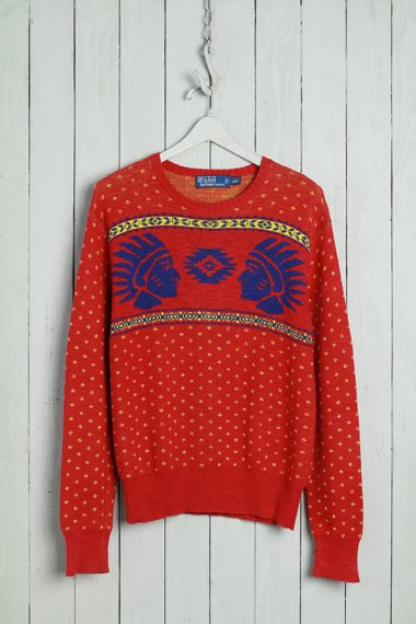 Crew Neck Sweater Polo Tag Native