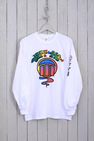Rainbow Logo L/S Tee White