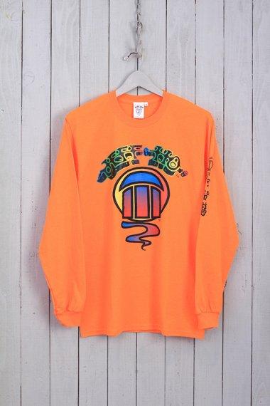 Rainbow Logo L/S Tee Orange