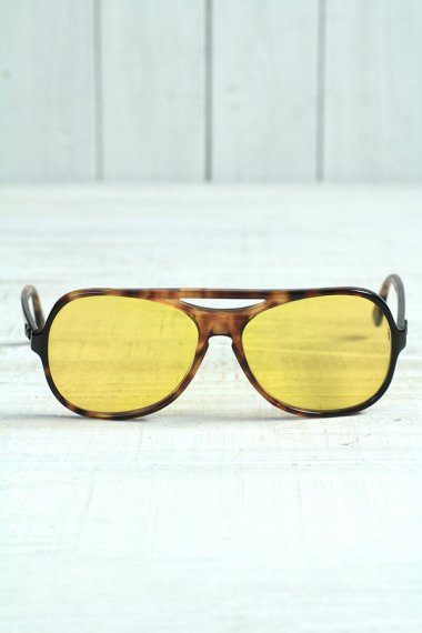 POWDERHORN Yellow Lens Tortoise Frame