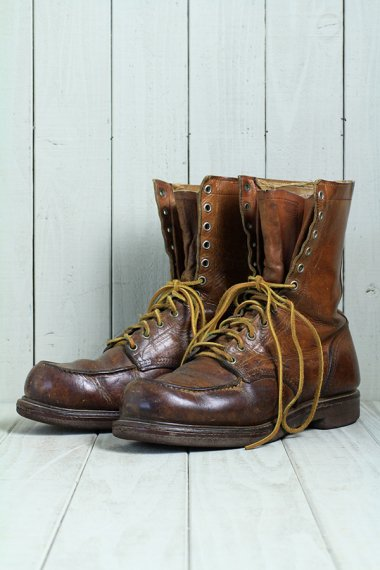 Boots 50's Navy Tag(Size10.5)