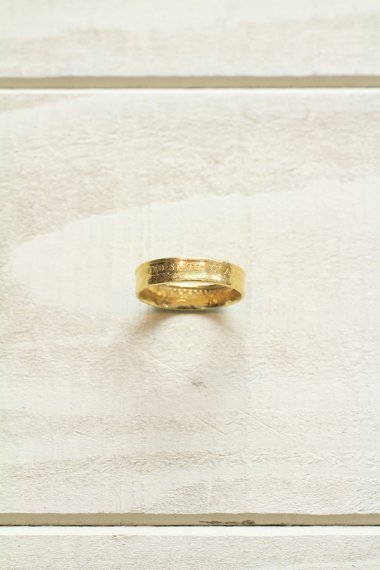 Order Made Gold Coin Ring