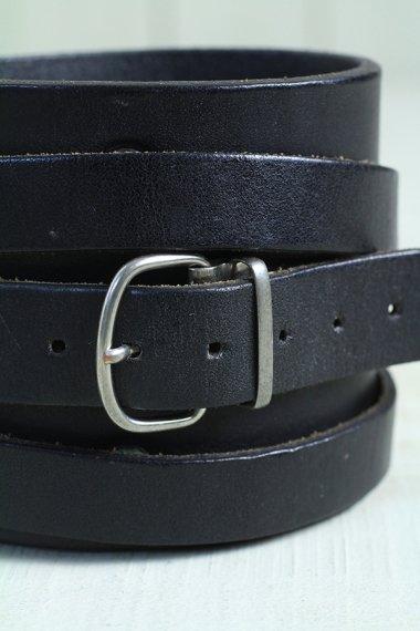 Maison Margiela Leather Bracelet Black