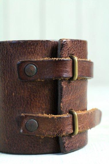 Maison Margiela Leather Bracelet Brown