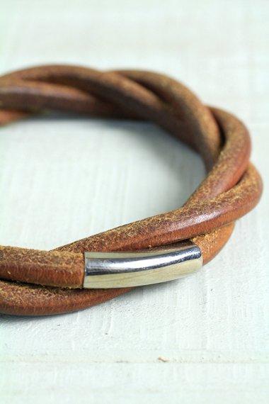 HERMES Leather Bangle
