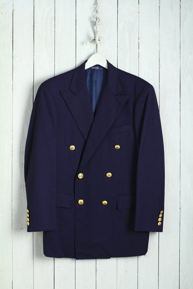 RALPH LAUREN Double Breasted Tailored Jacket