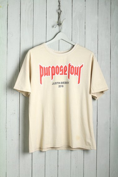 JUSTIN BIEBER by BARNEYS NY Tee Purpose Tour 16'